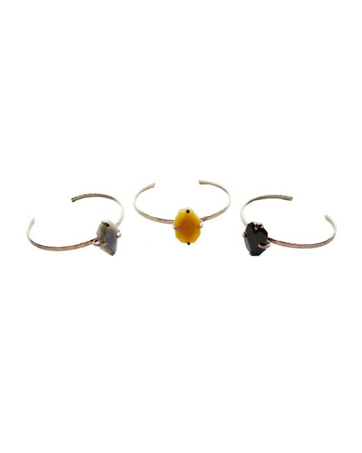 Cloverpost | Metallic Hammer Stone Bracelet | Lyst
