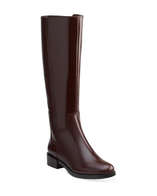Clarks | Brown Marquette Silk Knee-High Boots | Lyst