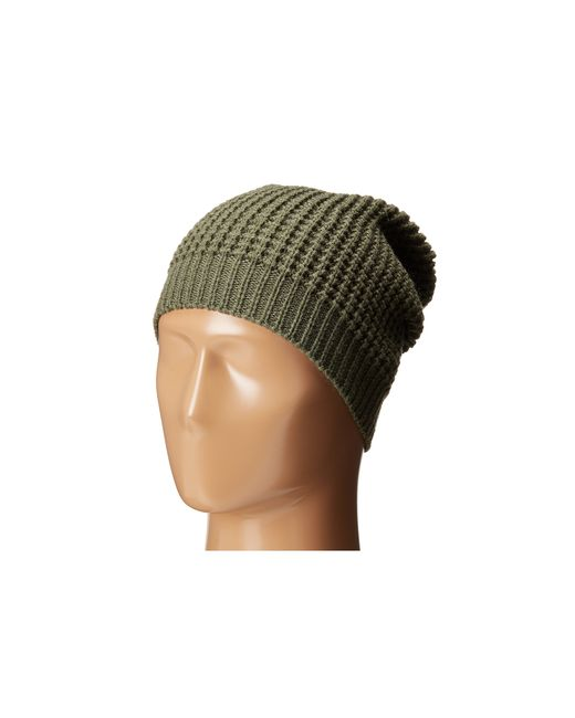 Hat Attack | Green Waffle Stitch Slouchy | Lyst