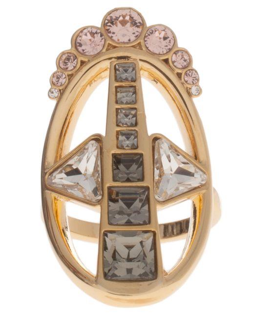 Ca&Lou | Metallic Blk Diamond Silver Rose Ring | Lyst