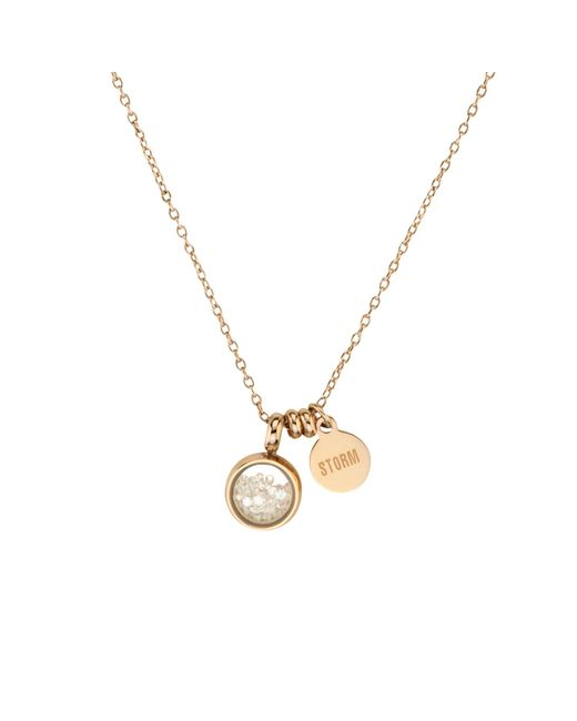 Storm | Metallic Rose Gold Mimi Necklace | Lyst