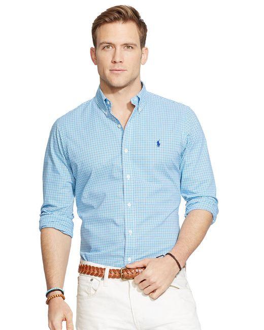 Polo Ralph Lauren | Green Performance Twill Shirt for Men | Lyst
