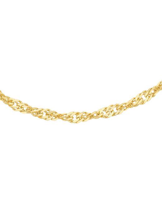 Ib&b | 18ct Yellow Gold Twist Curb Chain Necklace | Lyst