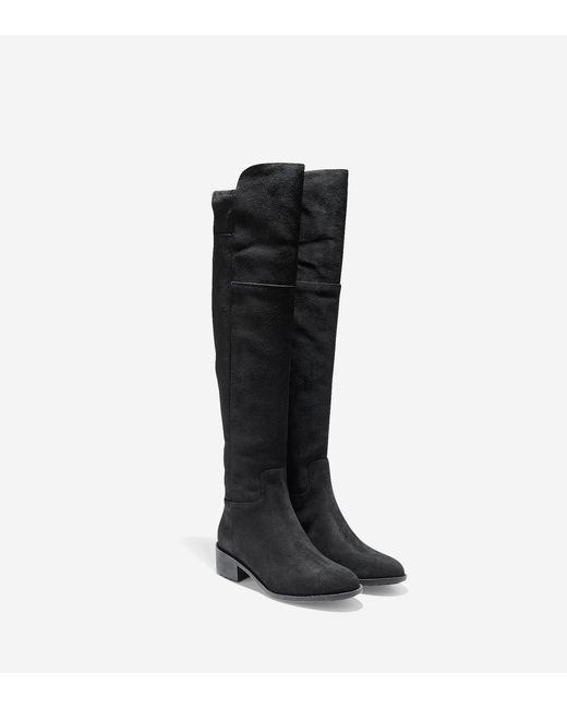 cole haan terrytown waterproof boot in black black