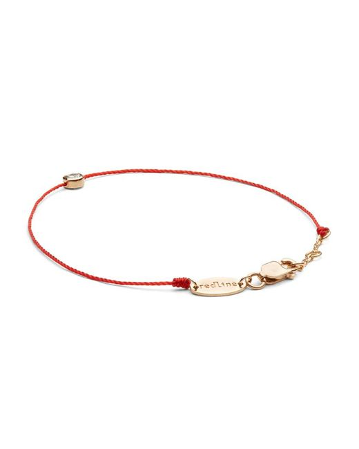 RedLine | Pink Rose Gold And Diamond Pure Bracelet With Red Thread | Lyst
