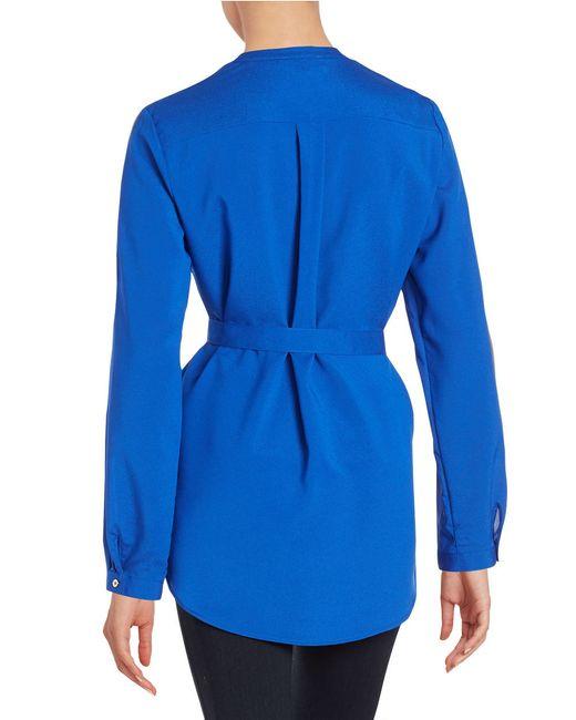 Calvin Klein | Blue Zip Placket Tunic | Lyst