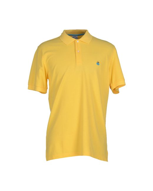 Brooks brothers polo shirt in yellow for men save 30 lyst for Brooks brothers shirt size guide