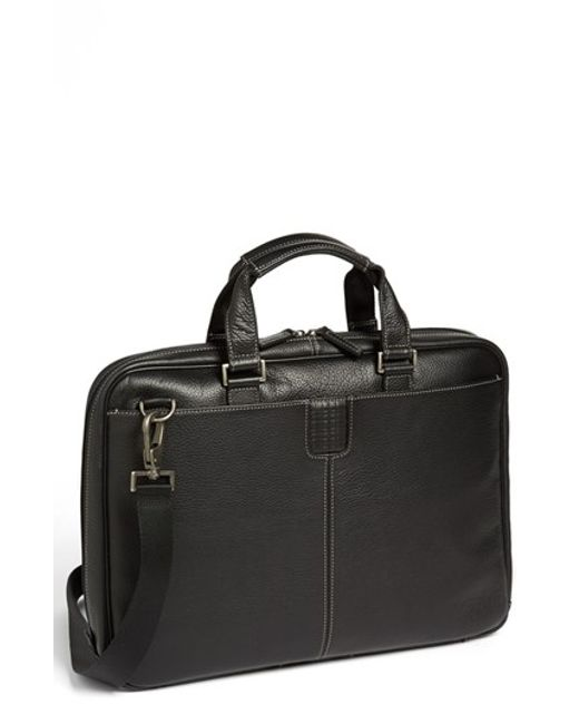 Boconi   Black 'tyler' Briefcase for Men   Lyst