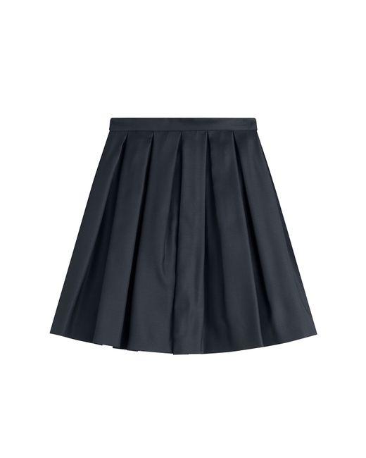 Burberry | Virgin Wool-silk Pleated Skirt - Blue | Lyst