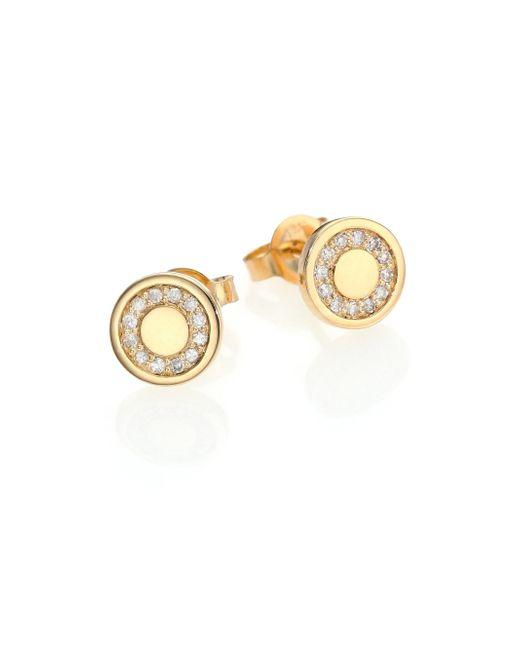 Astley Clarke   Metallic Cosmos Diamond & 14k Yellow Gold Mini Stud Earrings   Lyst