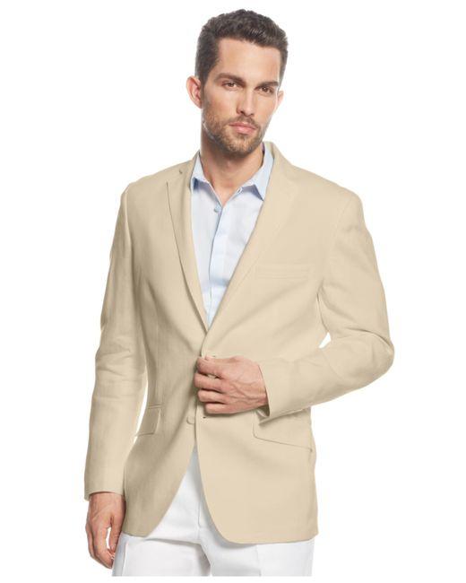 INC International Concepts | Brown Men's Smith Linen-blend Suit Jacket for Men | Lyst