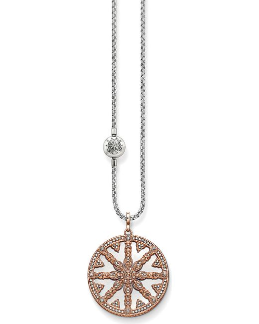 Thomas Sabo | Metallic Karma Beads Wheel Of Karma 18ct Rose Gold-plated Necklace | Lyst
