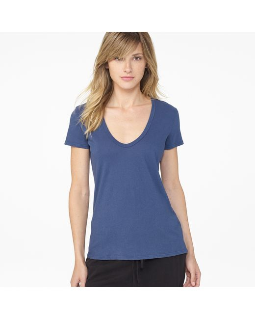 James Perse | Blue Long Island Beach Graphic Tee | Lyst