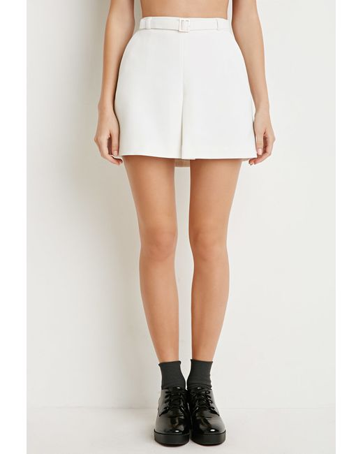 Forever 21 | Natural Kick-pleat Mini Skirt | Lyst