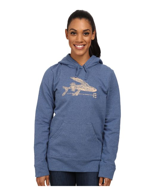 Patagonia | Blue Ballpoint Flying Fish Mw Pullover Hooded Sweatshirt | Lyst