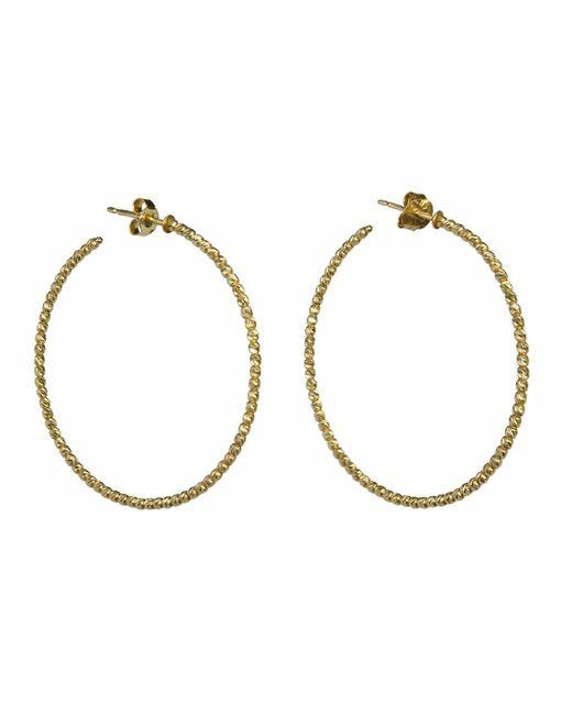 Talia Naomi | Metallic Beluga Hooped Earrings Gold | Lyst