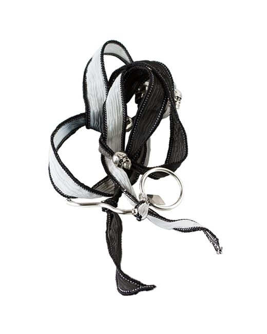 Duchess Of Malfi | Black Skull Warp Bracelet | Lyst