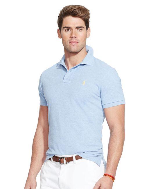 Polo Ralph Lauren   Blue Custom-Fit Mesh Polo Shirt for Men   Lyst