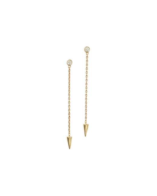 KC Designs | Metallic Diamond Spike Drop Earrings In 14k Yellow Gold | Lyst