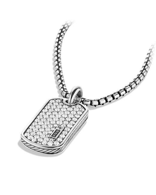 David Yurman | Metallic Pavé Tag With Diamonds for Men | Lyst
