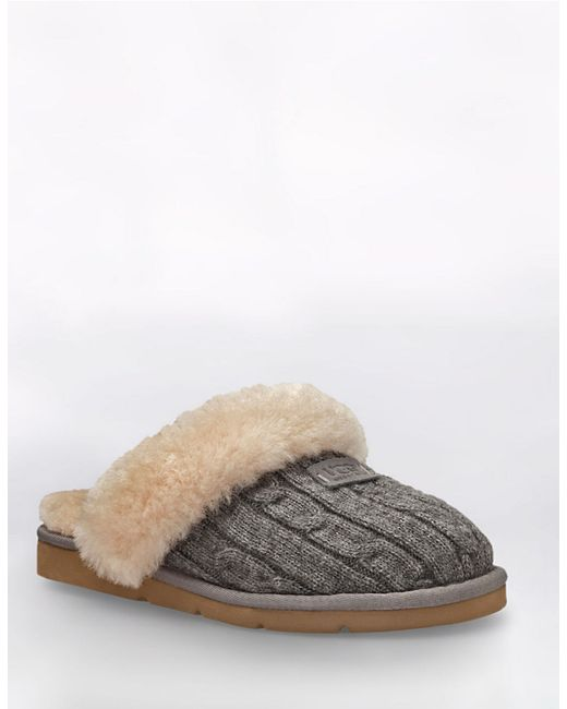 grey cable knit uggs