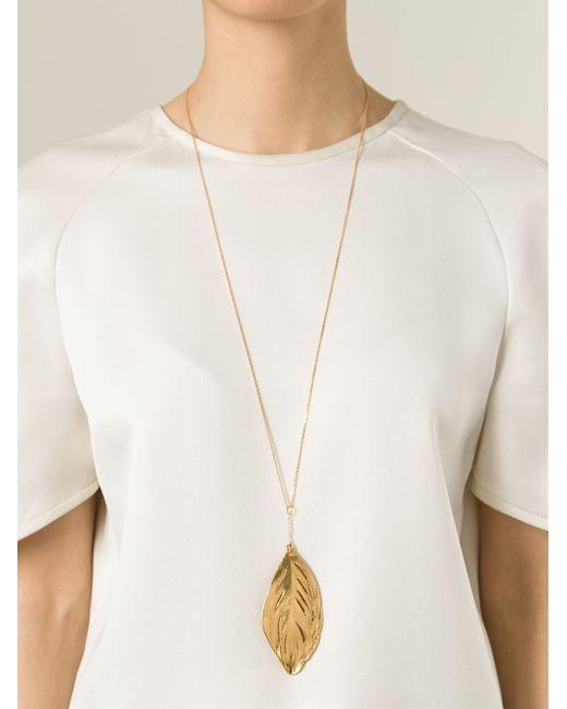 Aurelie Bidermann | Metallic Swan Feather Necklace | Lyst