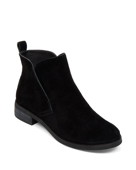 Lucky Brand | Black Night Suede Ankle Boots | Lyst