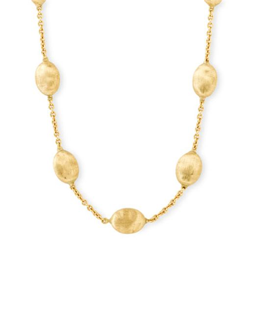 Marco Bicego   Yellow 'siviglia' Station Necklace   Lyst
