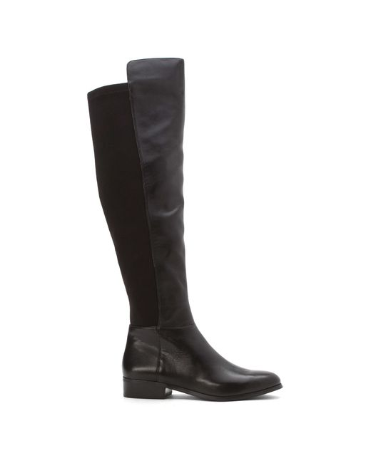 michael michael kors bromley flat boot in black black