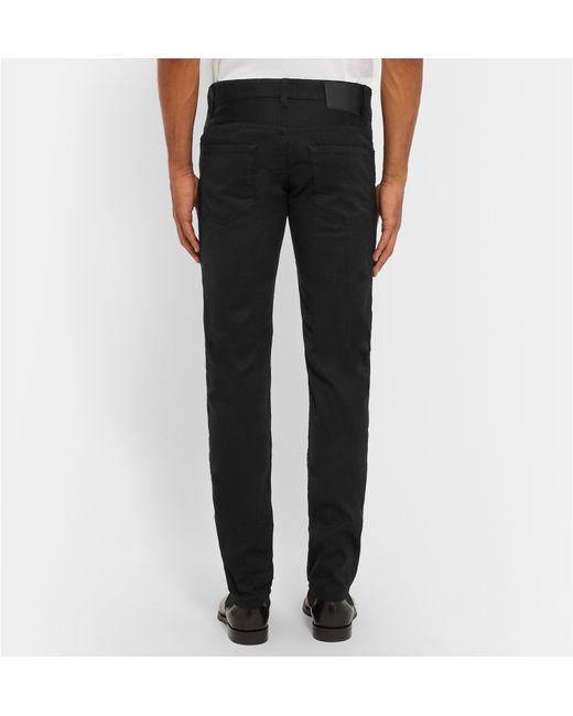 boss delaware slim fit stretch denim jeans in black for. Black Bedroom Furniture Sets. Home Design Ideas