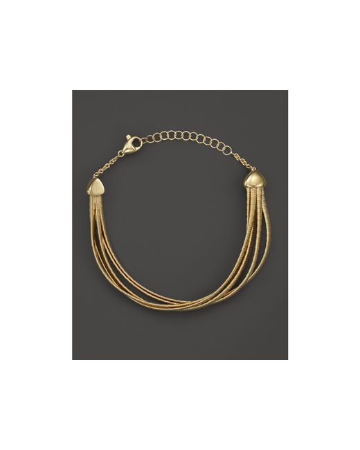 Marco Bicego | Metallic Five Strand Cairo Half Bracelet In 18k Yellow Gold | Lyst