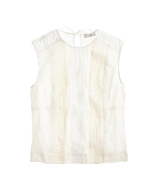 J.Crew | White Petite Cropped Shell | Lyst