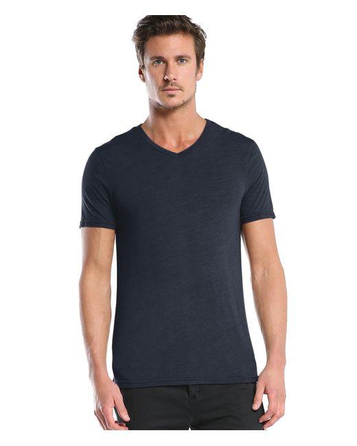 Michael Stars | Blue Short Sleeve Bamboo V- Neck Tee | Lyst
