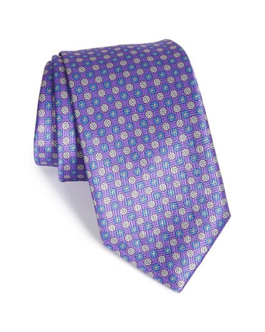 Robert Talbott | Purple Medallion Silk Tie for Men | Lyst