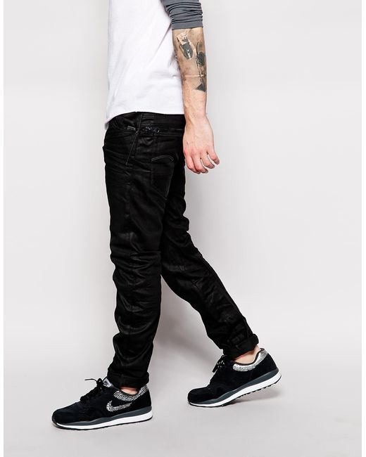 star raw jeans arc zip 3d slim fit medium black aged in black for. Black Bedroom Furniture Sets. Home Design Ideas