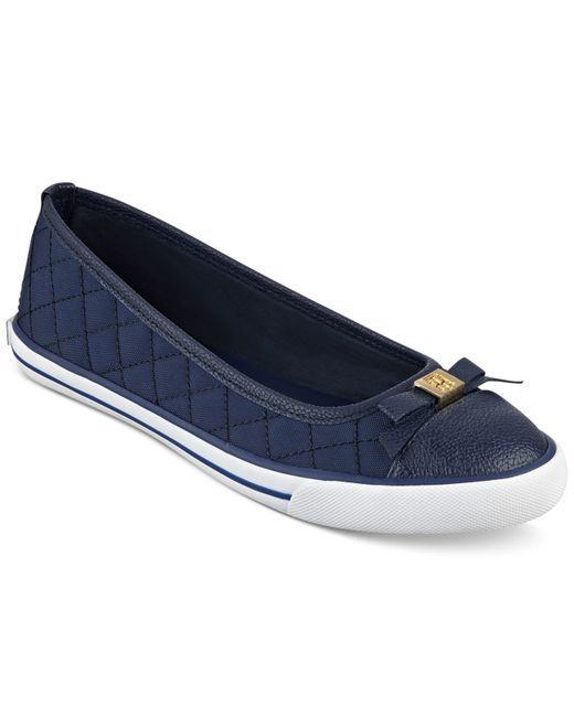 tommy hilfiger beth ballet flats in blue navy lyst. Black Bedroom Furniture Sets. Home Design Ideas