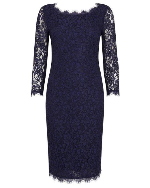 Diane von Furstenberg | Blue Zarita Indigo Lace Dress | Lyst