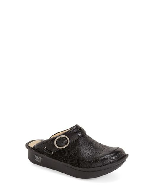 Alegria | Black Seville Water-Resistant Buckled Clogs  | Lyst