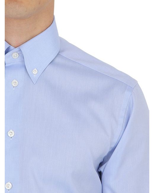 Eton of sweden slim fit cotton oxford button down shirt in for Light blue button down shirt