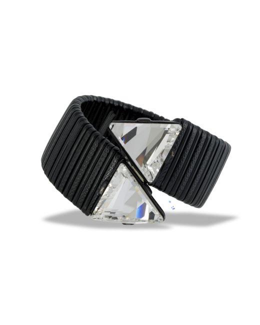 Kenneth Jay Lane | Black Wrap Bracelet | Lyst