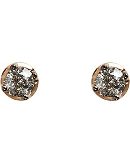 Annoushka | Gray Dusty 18ct Rose-gold And Diamond Stud Earrings | Lyst