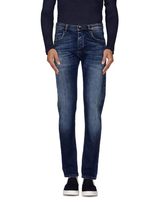Officina 36 | Blue Denim Trousers for Men | Lyst