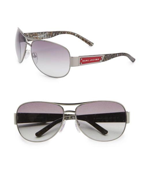Marc Jacobs | Metallic 65mm Aviator Sunglasses | Lyst