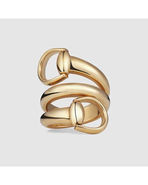 Gucci | Yellow Horsebit Ring | Lyst