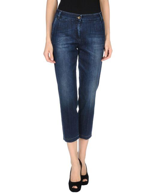 Dolce & Gabbana | Blue Denim Trousers | Lyst