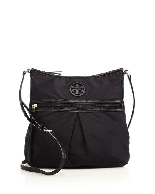 Tory Burch | Black Nylon & Leather Swingpack Crossbody Bag | Lyst