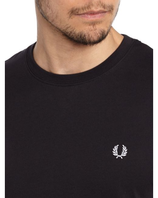 Fred Perry | Black Short-sleeved T-shirt for Men | Lyst