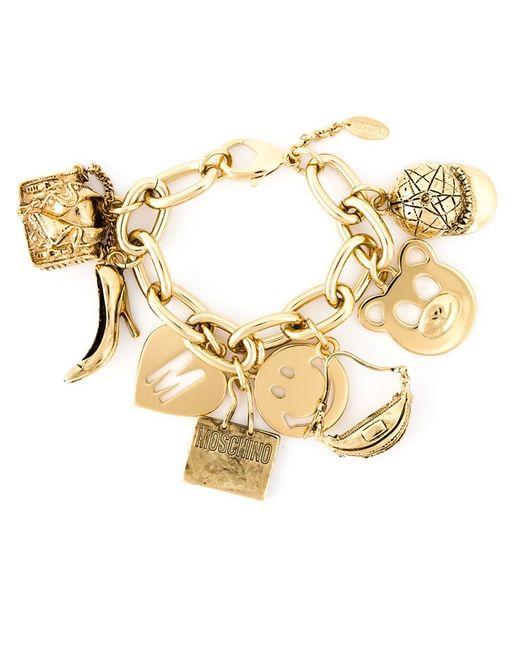 Moschino   Metallic Charm Bracelet   Lyst