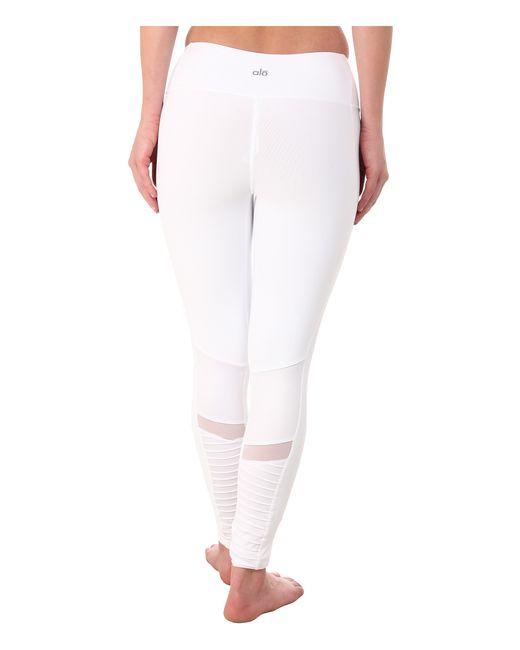 Alo Yoga | White Moto Leggings | Lyst