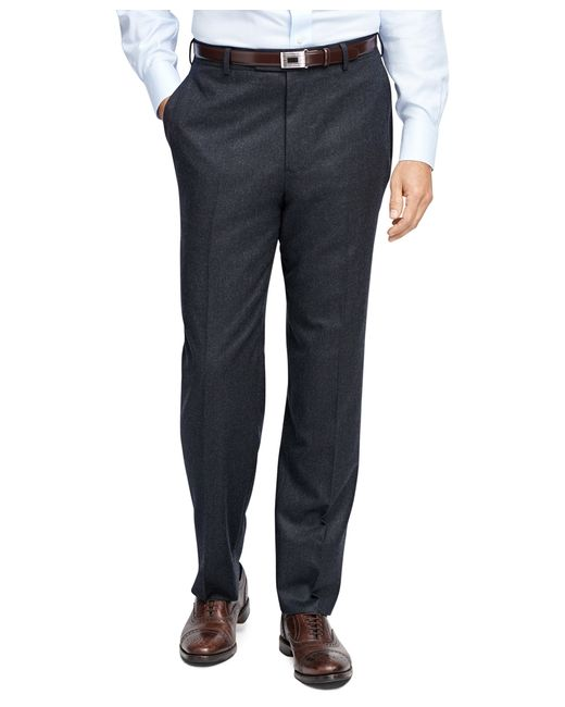Brooks Brothers | Gray Madison Fit Flannel Trousers for Men | Lyst
